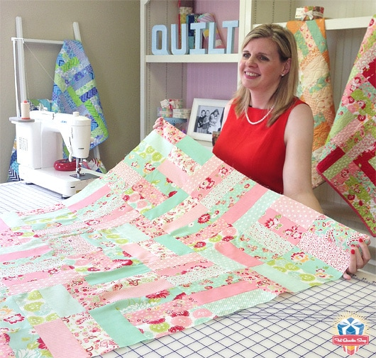 How to Make the Jelly Roll Jam BIGGER - The Jolly Jabber Quilting Blog : jelly roll jam quilt - Adamdwight.com