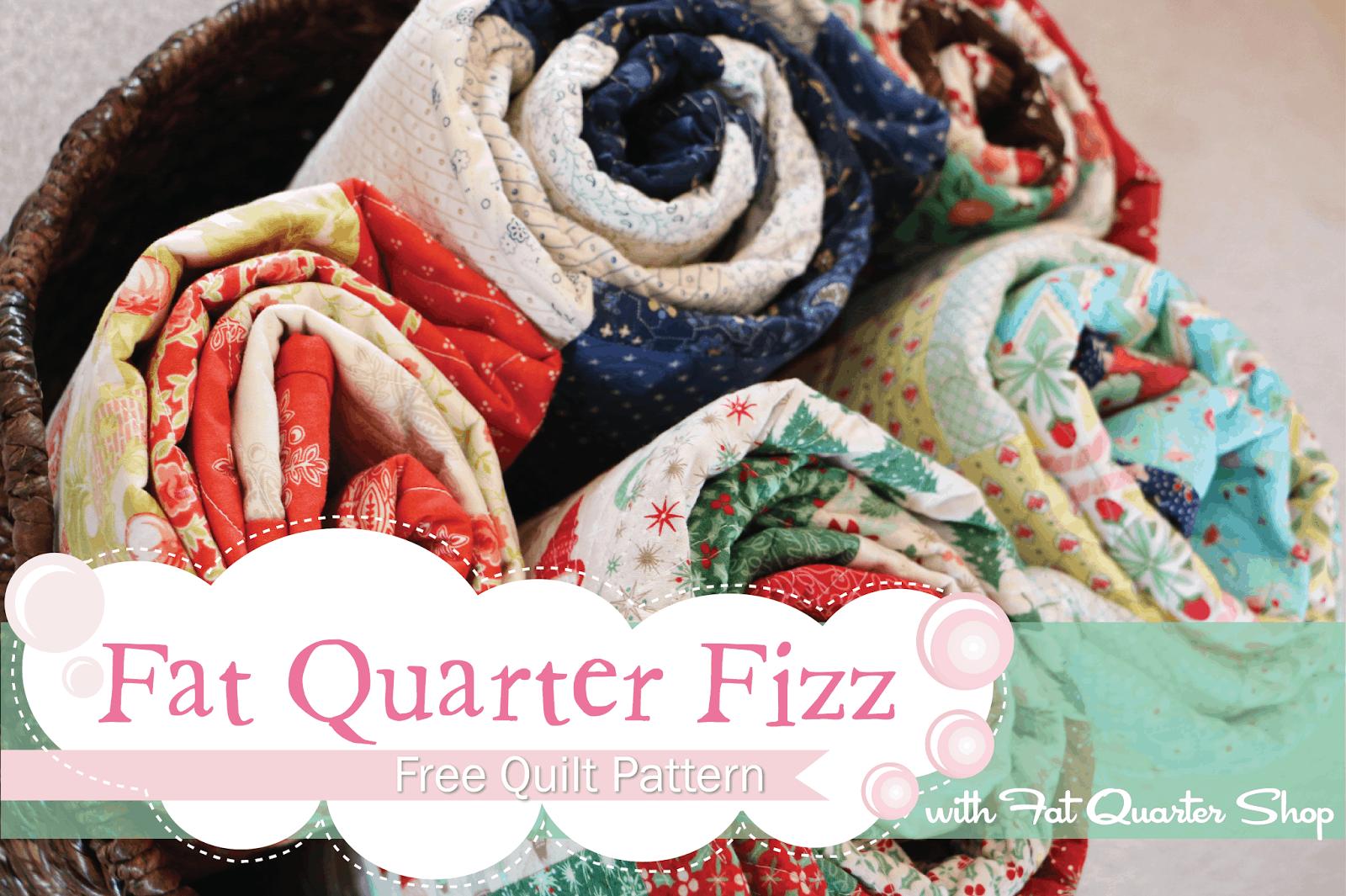 Fat Quarter Fizz Free Quilt Pattern With Fat Quarter Shop The