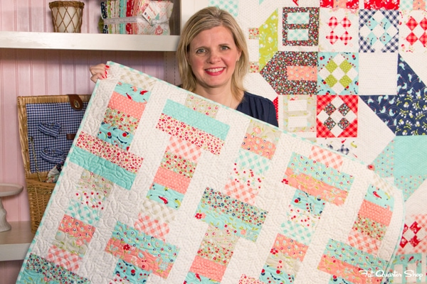 Jelly Roll Slice: Free Quilt Pattern with Fat Quarter Shop   The