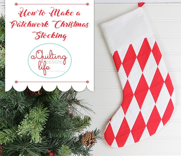 Patchwork Christmas Stocking by Sherri McConnell