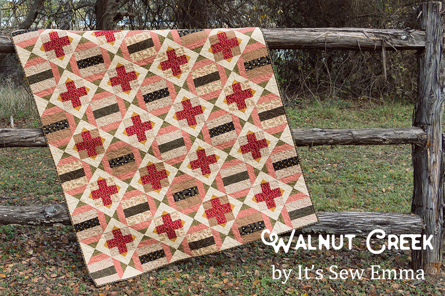 Walnut Creek quilt by It's Sew Emma