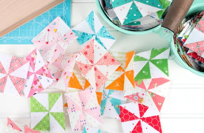 Patchwork Pinwheels using Triangles on a Roll triangle paper