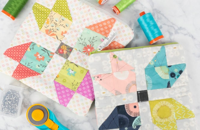 Sewing Machine Accessory Pouch makes and easy sewing project