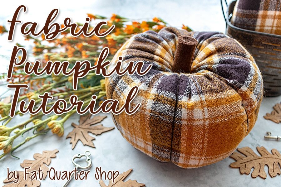 DIY Fabric Pumpkin Tutorial Header