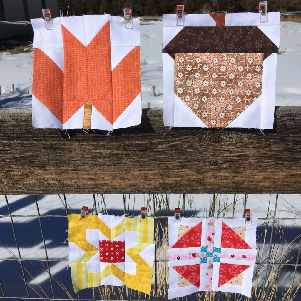 Tanya of Tanya Quilts in CO. sewed up some Farm Girl Vintage 2 quilt blocks.