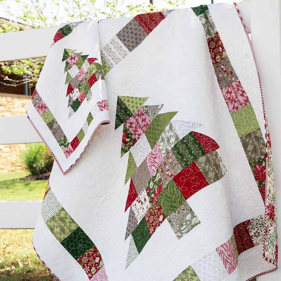 Christmas Quilt Patterns 2020 Shortcut Quilt: Charming Christmas   FREE Charm Pack Pattern   The